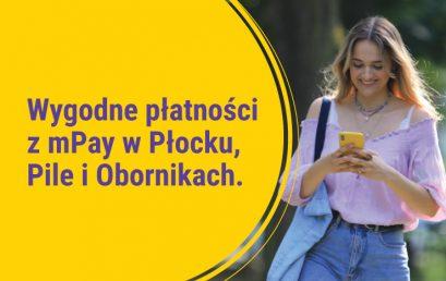Wygodne płatności z mPay w Płocku, Pile i Obornikach