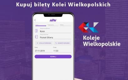 Kupuj bilety Kolei Wielkopolskich w aplikacji mPay!