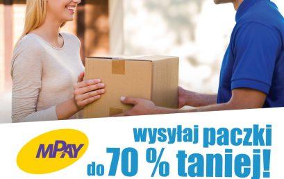 Nadawaj paczki przez aplikację mPay