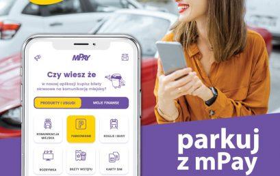 Sezonowe parkowanie w Giżycku z aplikacją mPay
